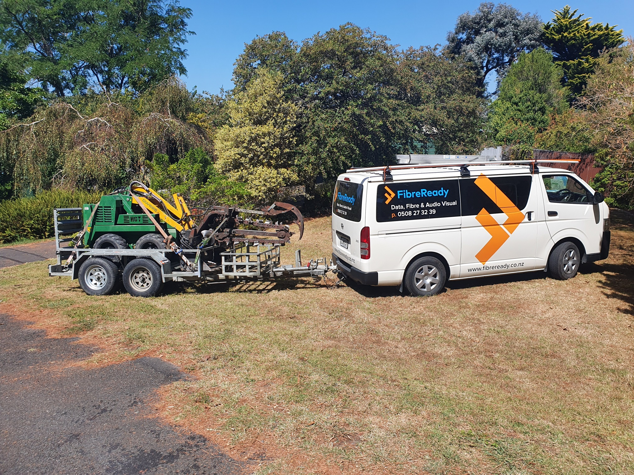 Trenching for fibre and electrical